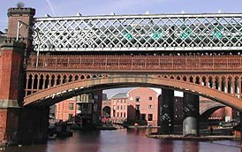 Cast Iron Arch, Bridgewater Canal wharves, MSJ&A Railway