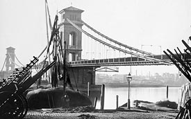 Hungerford Suspension Bridge, site of
