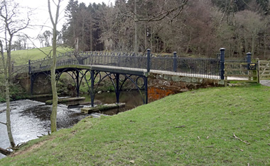 Metal Bridge, Hulne Park