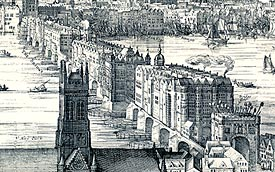Old London Bridge, site of