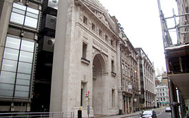 Lloyd's of London building (1928), site of